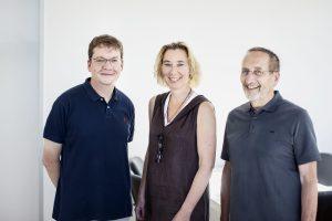 P.v.l.n.r.: Prof. Dr. Jan Buer, Prof. Dr. Ulrike Schara, Prof. Dr. Werner Havers