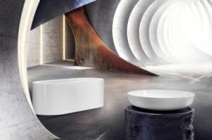 Meisterstück Centro Duo Oval, Miena Waschtisch, emaillierte Duschfläche Scona